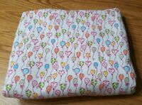 Hearts Balloons Flannel Fabric Remnant 2 Yds 44x72 Pink Blue Orange Quilt Crafts