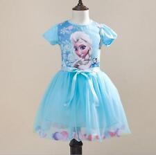 Frozen Eiskönigin Elsa Anna Prinzessin Kostüm  Kinder Mädchen Sommer-Kleid