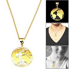 10K Yellow Gold Earth Map World Globe Fashion Pendant 0.80 Grams Charm