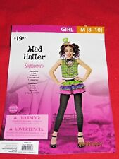 New Girls Mad Hatter Halloween Costume Size M ( 8-10)