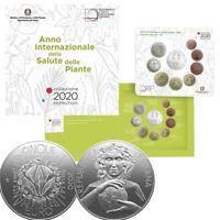 """2020 * ITALIA Divisionale Ufficiale Euro 9 Monete """"Salute delle Piante"""" FDC"""