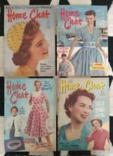 Bundle of 4 Vintage Home Chat Magazines 1955 Women Home Family Crafting Knitting