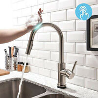 Touch Sensor Kitchen Faucets with Pull Down Sprayer Single Hole Deck Mount NEW