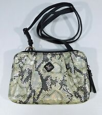 Simply Vera Wang Purse Iridescent Faux Snakeskin Python Cross Body Shoulder Bag