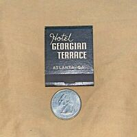 Vintage Matchbook - Hotel Georgian Terrace Atlanta GA  Unstruck Unused Match