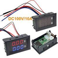 Red Blue Voltage Meter 10A Voltmeter Ammeter DC0-100/200V 3/4 Bit LED Panel