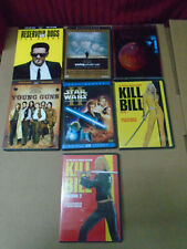 Action 7 Dvd Movies Lot: Total Recall, Kill Bill, Reservoir Dogs, Young Guns