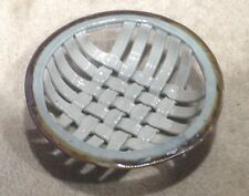 Gray and Brown Open Weave Pottery Serving Bowl