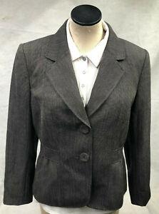 Tahari Arthur S. Levine Black & Beige Petite Women's Blazer Suit Jacket Size 10P