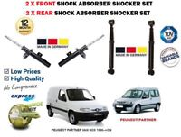 FOR PEUGEOT PARTNER VAN BOX 1996->2X FRONT + 2X REAR SHOCK ABSORBER SHOCKER SET