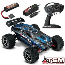 Traxxas 1/16 E-Revo VXL Brushless 4WD RTR RC Truck BLUE w/TSM, iD & CHARGER!!