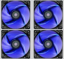 4 X Pack De AEROCOOL Lightning 12 cm 120 mm Case Fan LED azul, 41.40CFM, 22.5dB (a)