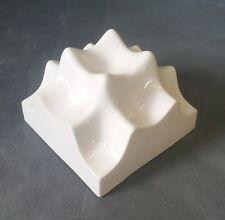 3D White High Gloss Sculptural Ceramic Wall Tiles 4.25 inch Kitchen Bathroom