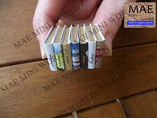 Set of 7 books miniature dollhouse, artisan customized. 1:12 Scale. CAN
