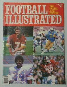 FOOTBALL ILLUSTRATED 1980 College & Pro Preview Magazine Earl Campbell Cvr 8253
