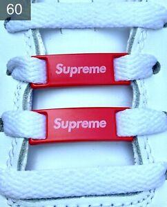 ✅ Neue Nike Air Force 1  Supreme Schnallen Lace Locks Buckles 2 Stück✅