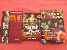 3 music sc/s mad bad and dangerous blown away rolling stones casualties of rock