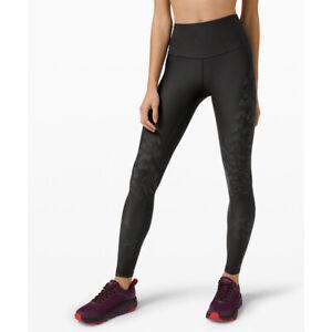 "Lululemon Women's Mapped Out High Rise Tight 28"" Legging Camo-Black Size UK6/US2"