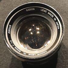 Vintage Canon Lens FL 50 mm 1:1.4 (Japan)