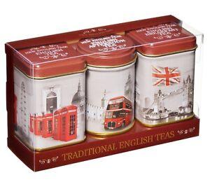 New English Teas Vintage England Triple Tea Selection Mini Tin Gift Pack (MT52)