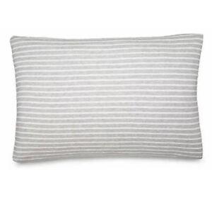 Calvin Klein Modern Cotton Lennox STANDARD Pillow Sham Pair (2) - Gray Stripe