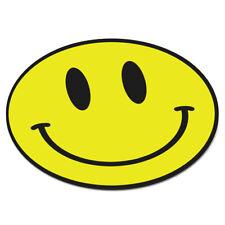 Visage Souriant Jaune Circulaire Tapis de Souris Pc Ordinateur - Drôle Happy