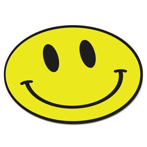 SMILEY FACE YELLOW CIRCULAR PC COMPUTER MOUSE MAT PAD - Funny Happy Emoji