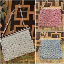 1960s Galaxy Yarn Evening Bag Purse Myart 13 Knitting Crochet Pattern Book