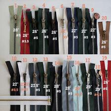 "Open End Metal Jacket Zippers - 26"" 27"" 28"" 29"" Inch #5 Separating Zipper  -MJ26"