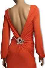 NWT JOVANI BACKLESS COCKTAIL DRESS ORANGE Size 4 $400