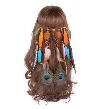 Feather Hair band Headbands Tassel Headdress Carnival Headpiece Party Festival