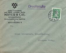 AUGSBURG, Briefumschlag 1928, Mayer & Cie. AG Kalker Trieur-Fabrik gelochte Blec