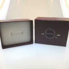 Empty Jewelry Ring Gift Box w Maroon or Burgith Pandora Sticker Like Newundy