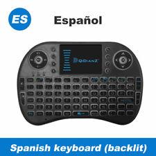 I8 Mini Wifi Keyboard USB Air Mouse 7 Colors Backlit TV Box ES Teclado Keypad