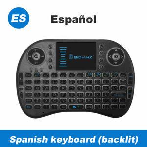 I8 Keyboard Mini Backlit Inalámbrico Teclado Touchpad For Android TV Box Español
