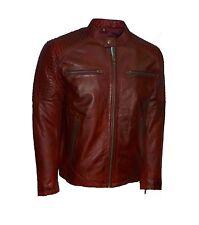 Whet Blu Men's Motorcycle Leather Jacket Black Oxblood