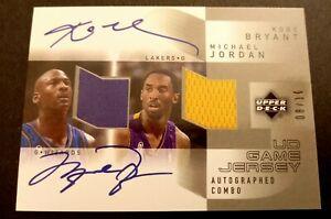 Michael Jordan Kobe Bryant Reprint Facsimile Auto Signature Basketball Card