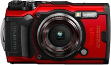 Olympus Tough TG-6 Waterproof Camera with 3-Inch LCD, 8x Zoom, Full HD (Red)