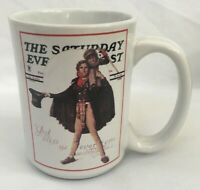 Norman Rockwell Saturday Evening Post Coffee Mug Christmas Tiny Tim and Scrooge