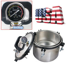 USA PROFESSIONAL 8L STEAM AUTOCLAVE STERILIZER TATTOO DENTAL MEDICAL EQUIPMENT