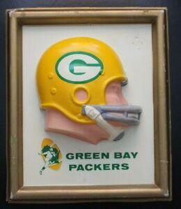 1965 Green Bay Packers Technigraph NFL Helmet Wall Plaque