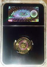 APCGS GRADED MS-63 2013 $2 CORONATION COIN PURPLE STRIPE UNC
