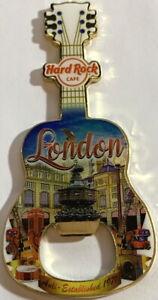 Hard Rock Cafe LONDON 2017 Guitar MAGNET Bottle Opener V17 City Tee Shirt Style