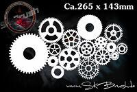 Uhrenwerk Airbrush Schablone - Clockwork Gears  Stencil