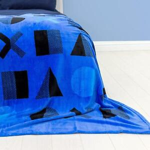 Sony Playstation Dots Fleece Blanket Bed Throw Matches Bedding PS4 PS5