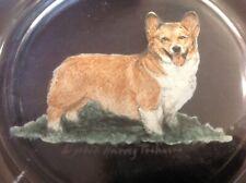 Pembroke Welsh Corgi - Unique Hand-painted Plate by Elizabeth Harvey Treharne