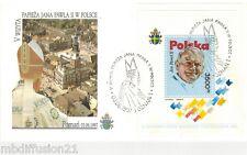 1997-FDC 1°JOUR//FEUILLET-SOUVENIR**VATICAN-JEAN-PAUL II//POZNAN//Mi/BL 113