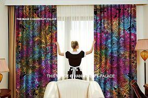 Indian Humsa Tie Dye Curtains Drapes Wall Decor Curtain Valances Boho Tapestry