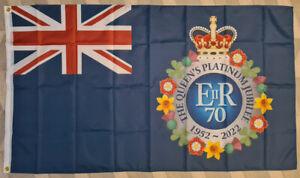 THE QUEEN'S PLATINUM JUBILEE FLAG 2022 BRITISH UNITED KINGDOM