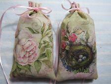 """Antique Pink 5""""X2"""" Sachet-'Woodside Garden' Fragrance-Handmade-Cindy's Loft-526"""